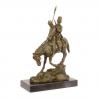 Calereti- statueta din bronz pe un soclu din marmura