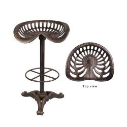 Scaun pentru bar din fier forjat bronz