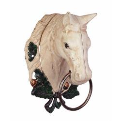 Suport pentru prosoape din fonta sub forma de cap de cal