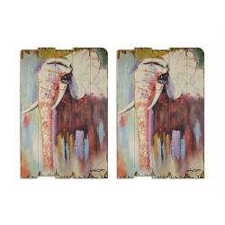 Set doua picturi vintage cu elefanti