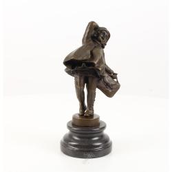 Scolarita-statueta Art Deco din bronz
