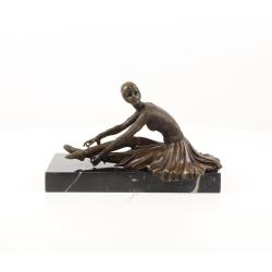 Balerina Tanara- statueta Art Deco din bronz