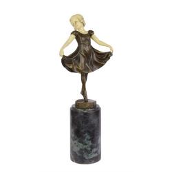 Lieselotte- statueta Art Deco din bronz