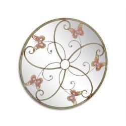 Decoratiune de perete din metal cu fluturi