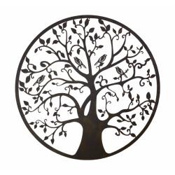 Copacul vietii- decoratiune de perete din metal cu leduri