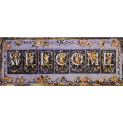 Decoratiune din metal Welcome