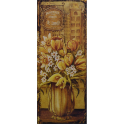 Decoratiune din metal pentru perete cu flori