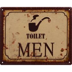 Sigla din metal cu toaleta barbati