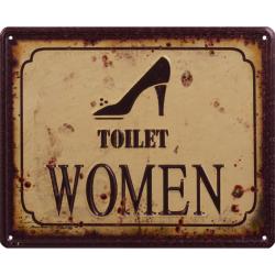 Sigla din metal cu toaleta femei