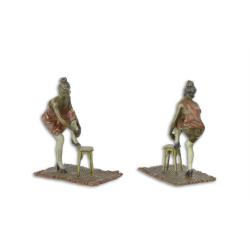 Femeie imbracandu-se- statueta vieneza din bronz masiv