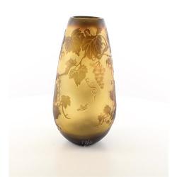 Struguri- vaza din sticla pictata in relief