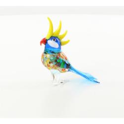 Cacadu- miniatura din sticla Murano