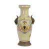Vaza din portelan pictat cu soclu din bronz