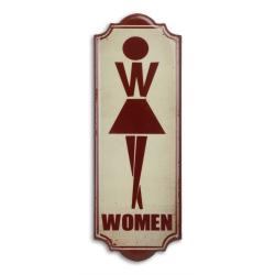 Decoratiune din metal pentru toaleta de doamne