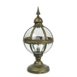 Felinar sferic din metal auriu