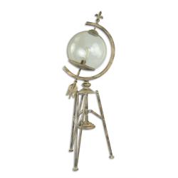 Felinar sferic din metal argintiu