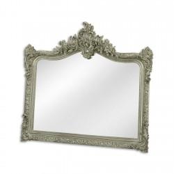 Oglinda argintie cu o rama din rasini
