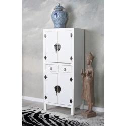 Cabinet exotic din lemn masiv alb