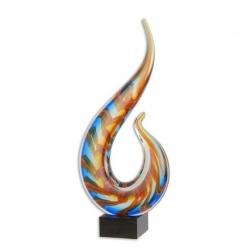 Statueta abstracta  din sticla Murano