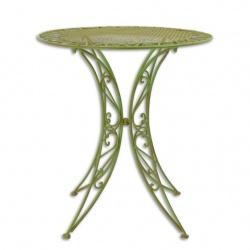 Masa din fier forjat antik green