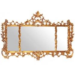 Oglinda din cristal cu o rama aurie deosebita
