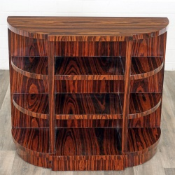 Biblioteca Art Deco din lemn masiv furniruit