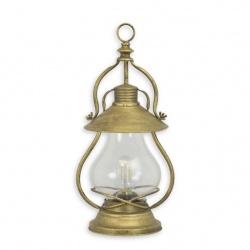 Lampa  din alama masiva cu sticla