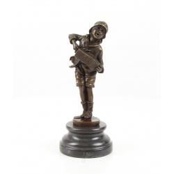 Vagabondul- statueta Art Deco din bronz pe un soclu din marmura