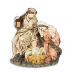 Statueta din rasini cu Isus cu pruncul cu familia