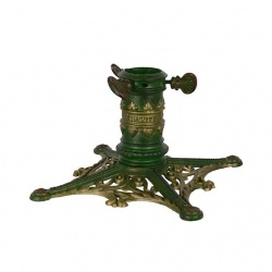 Suport pentru brad din fier forjat  cu decoratiuni aurii