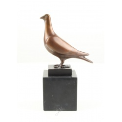 Porumbel-statueta din bronz pe un soclu din marmura