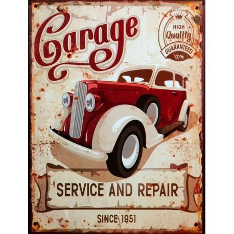 Tablou vintage cu service auto nr 1