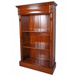 Biblioteca din lemn mahon cu trei rafturi