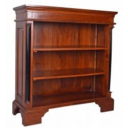 Biblioteca mica  din lemn mahon cu trei rafturi