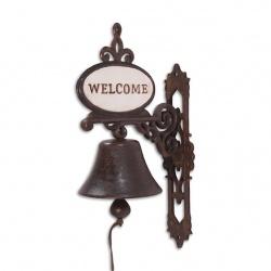 """Clopot din fonta cu """"WELCOME"""""""