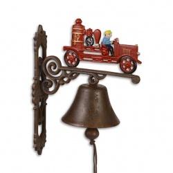 Clopot din fonta cu un tractor