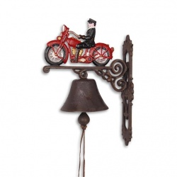 Clopot din fonta cu o motocicleta