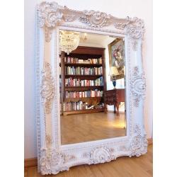 Oglinda baroc cu rama alba