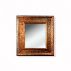 Oglinda mica aurie cu rama din lemn