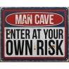 """Tablou din metal cu """"MAN CAVE"""""""