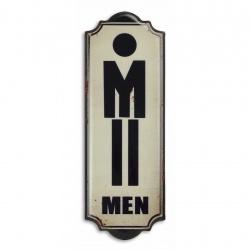 Decoratiune din metal pentru toaleta pentru domni