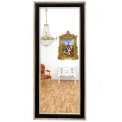 Oglinda neagra cu diverse decoratiuni argintii