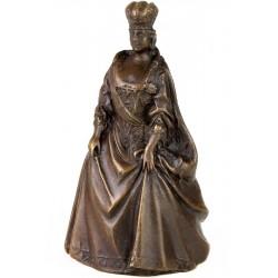 Clopot de bronz de mana cu o doamna