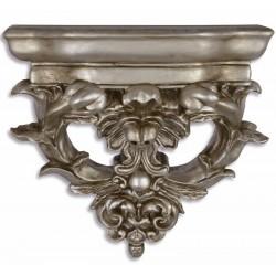 Consola de perete argintie