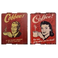 Set doua tablouri vintage cu cafea