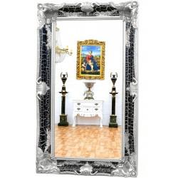 Oglinda monumentala cu rama neagra cu argintiu