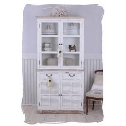 Bufet pentru bucatarie din lemn alb cu maro