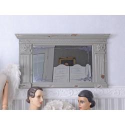 Oglinda din lemn antichizat gri