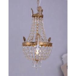 Lampa din alama masiva cu cristale