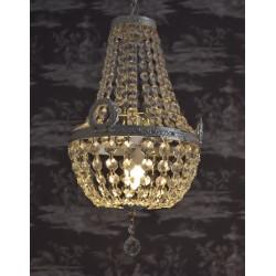 Lampa din alama masiva argintata cu cristale